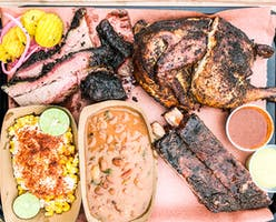 tray of BBQ