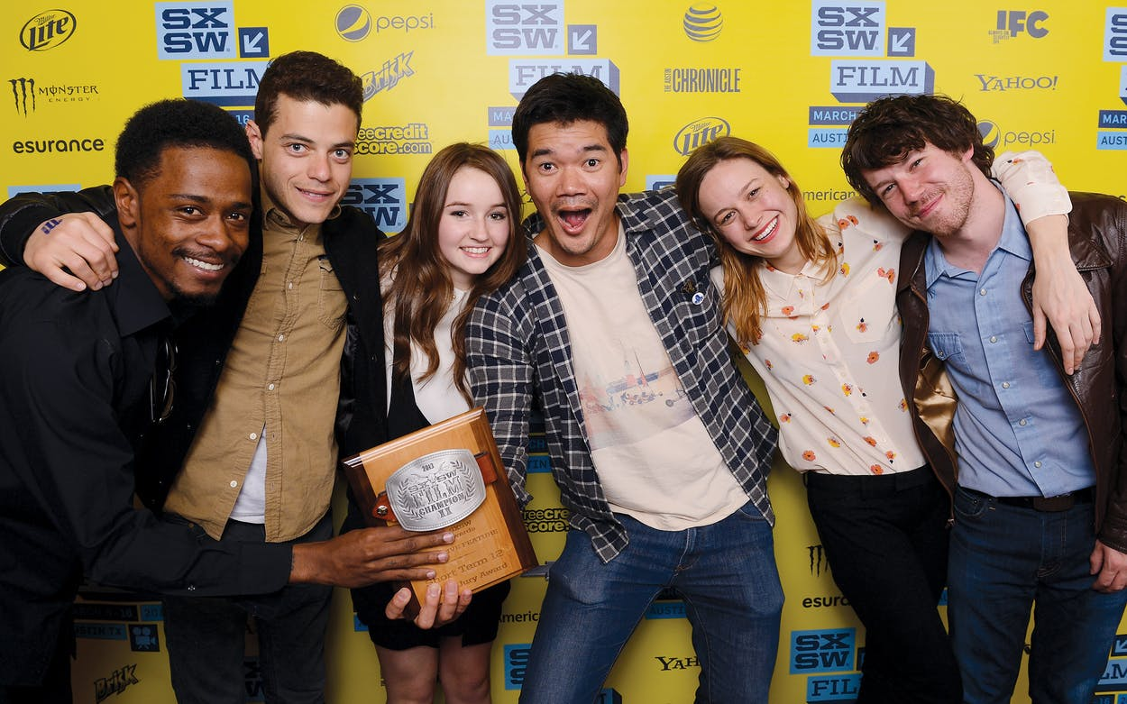 In 2013, 'Short Term 12' won the Grand Jury Award at SXSW. Here, Lakeith Stanfield, Rami Malek, Kaitlyn Dever, Destin Cretton, Brie Larson, and John Gallagher Jr. pose with the award.