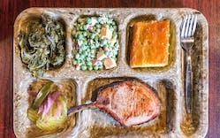 pork chop on food tray