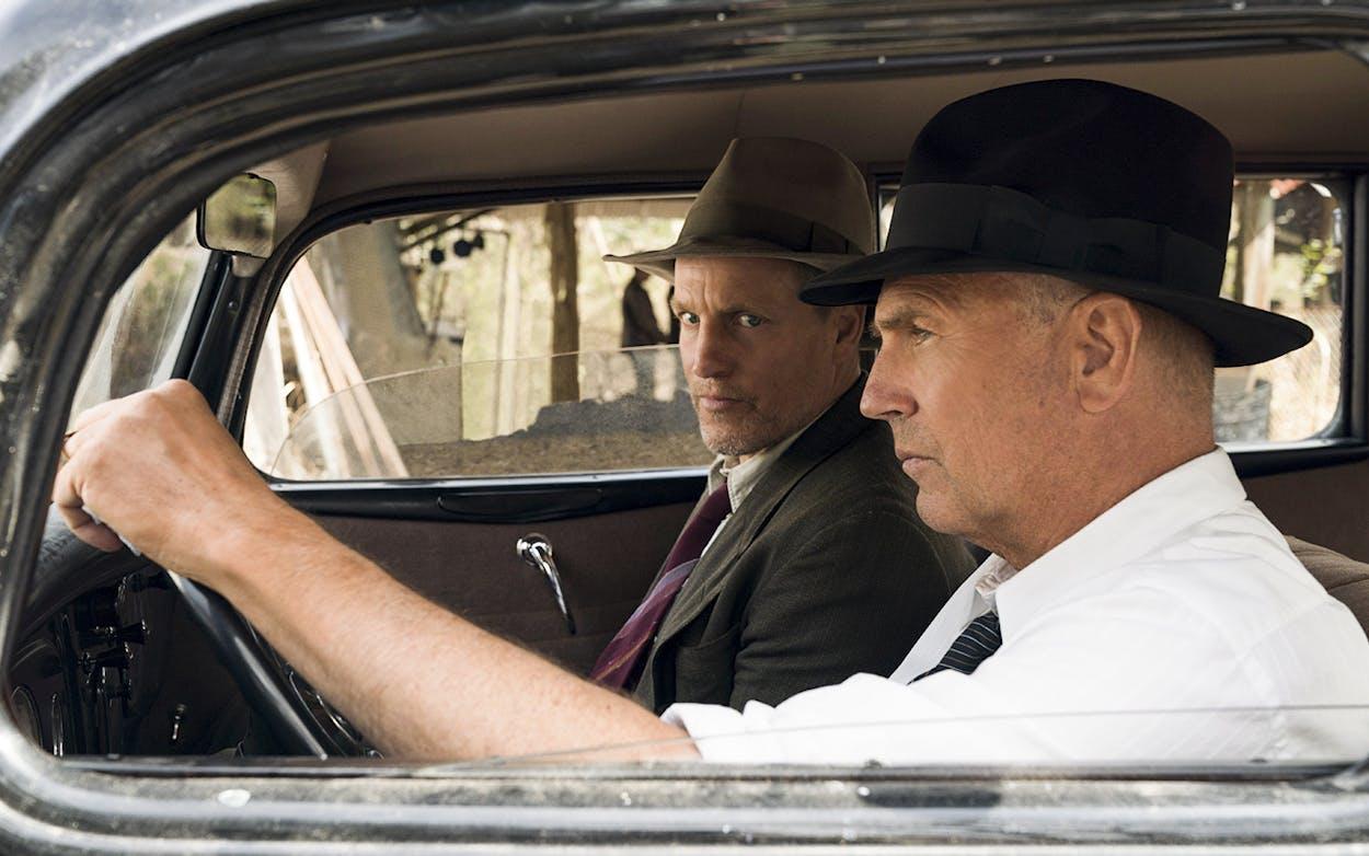 "Woody Harrelson and Kevin Costner play Maney Gault and Frank Hamer in Netflix's ""The Highwaymen."""