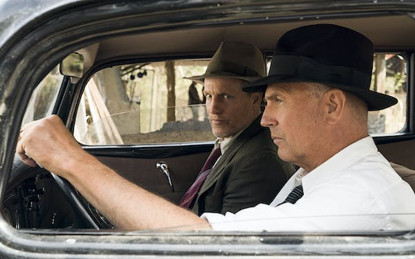 "Woody Harrelson and Kevin Costner play Maney Gault and Frank Hamer in Netflix's ""The Highwaymen."""