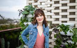 Actress Zooey Deschanel at the Lettuce Grow launch party.