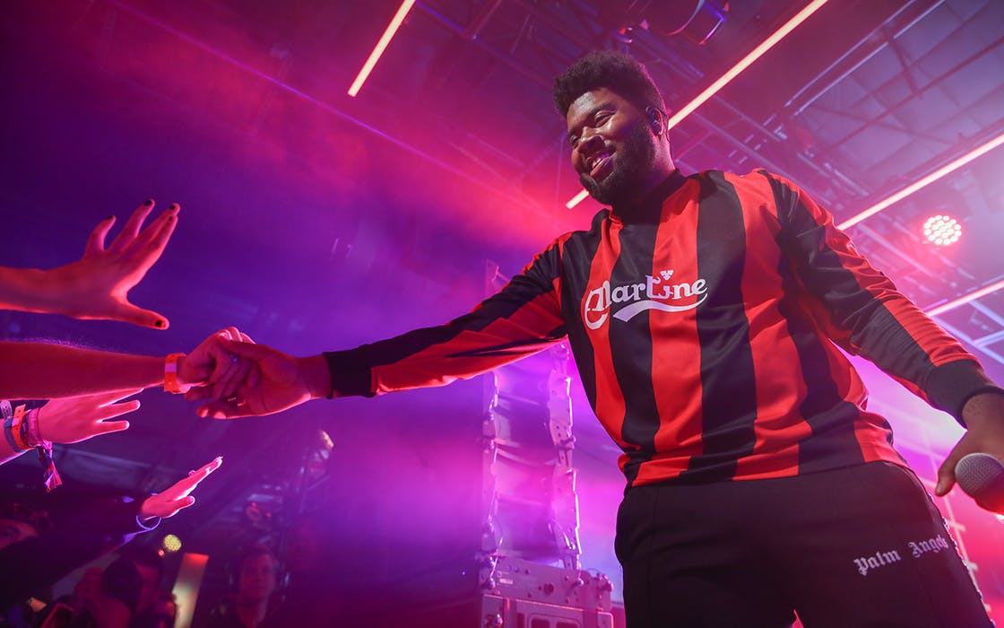 Khalid performs at the Uber Eats house during SXSW on March 14, 2019 in Austin.