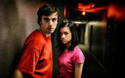 Roby Attal and Lauren Hatfield in a scene from Robert Rodriguez's Red 11.