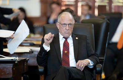 Senator Bob Hall, R-Edgewood, on the Senate floor during the 85th Legislative session in May 2017.