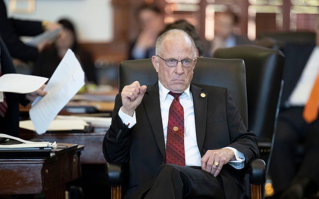 Senator Bob Hall, R-Edgewood, on the Senate floor during the 85th Legislative session in May 2017.