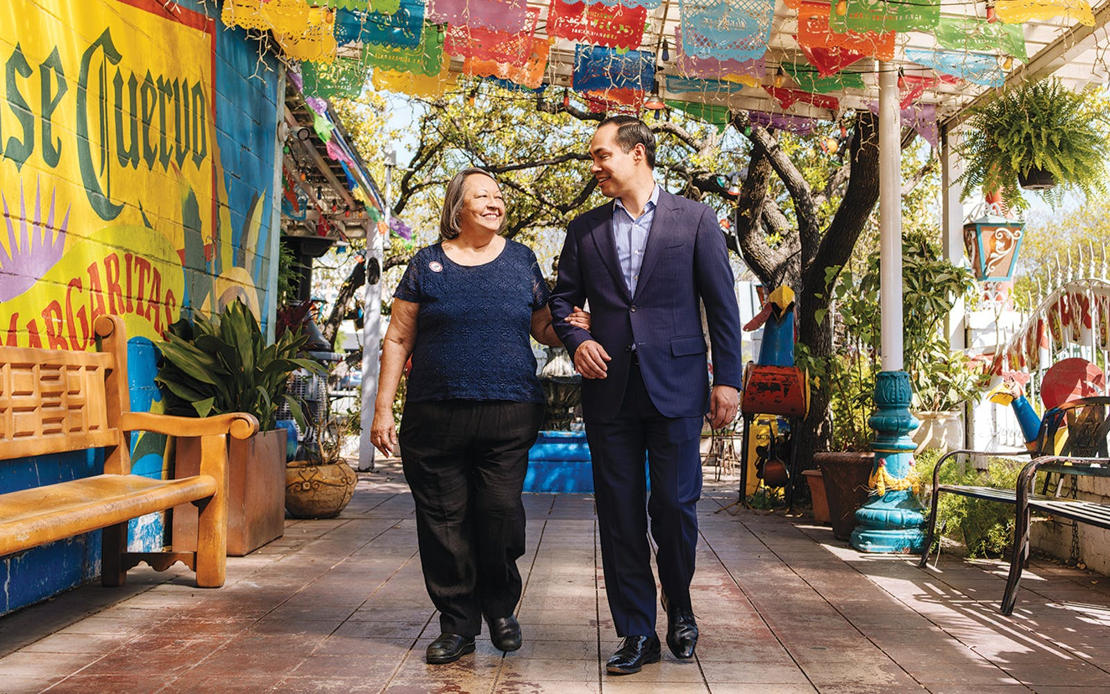 Rosie and Julián Castro at Pico de Gallo, in San Antonio, on March 21, 2019.