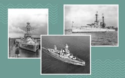 USS Texas collage
