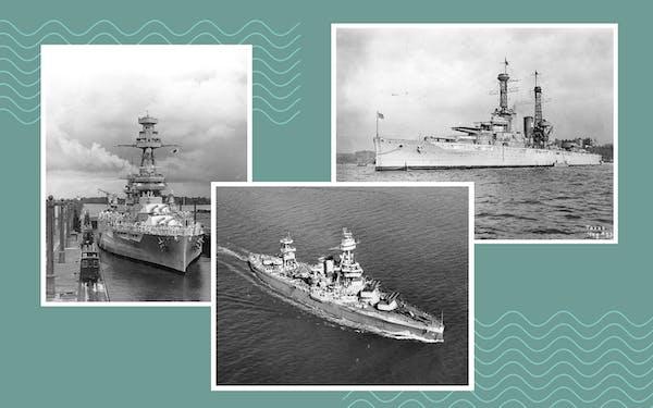 USS Texas collage