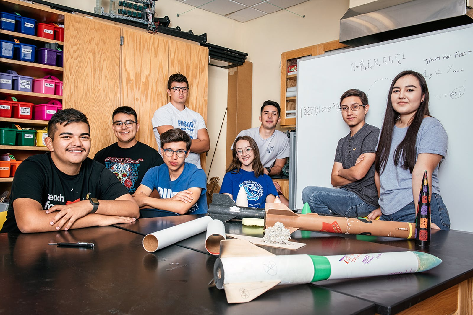 The Presidio High School rocketry team.