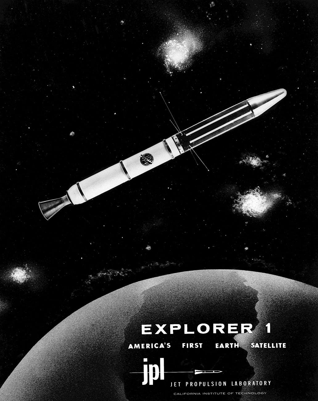 America first satellite, <em>Explorer I.</em>