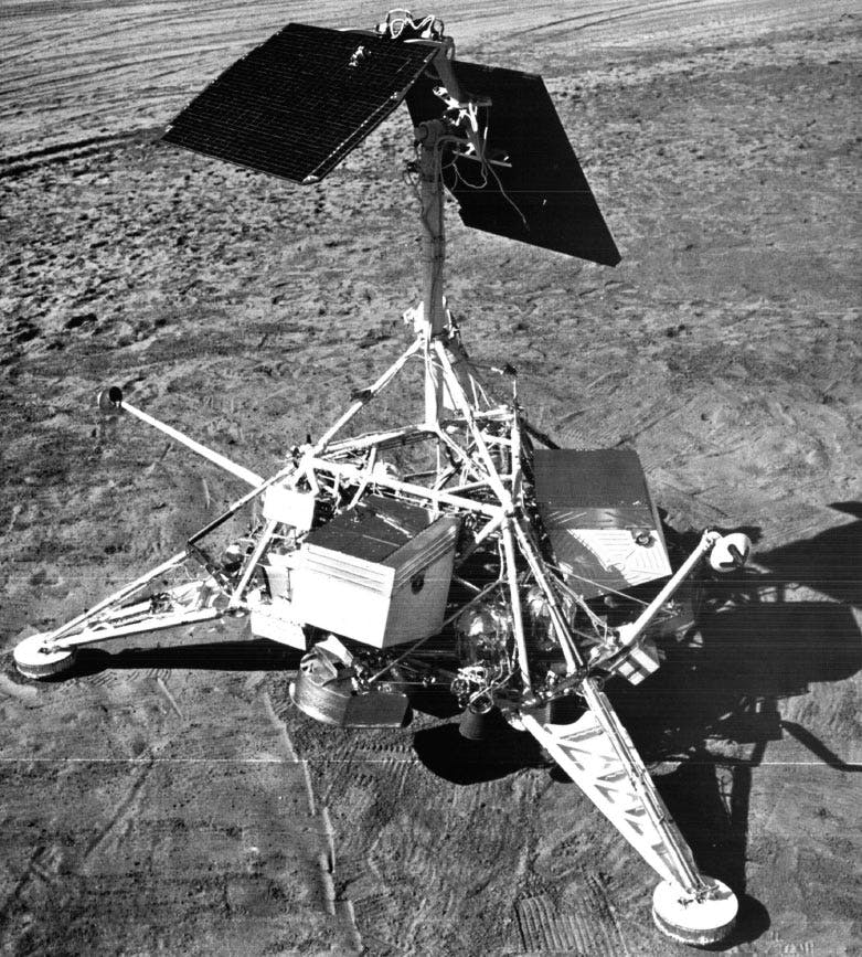 A model of the Surveyor 1 spacecraft.