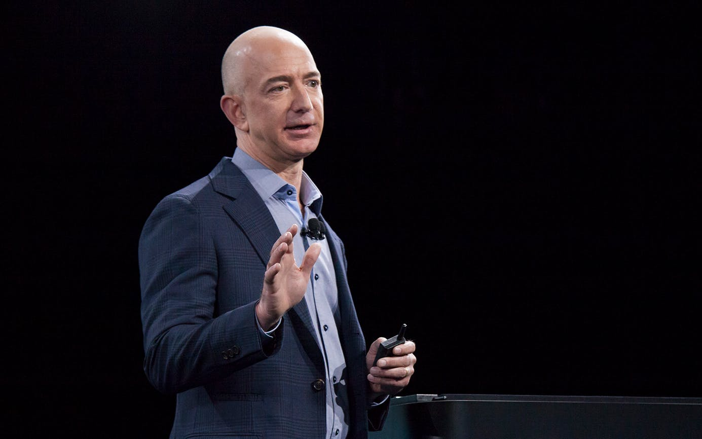 Amazon.com founder and CEO Jeff Bezos on June 18, 2014 in Seattle, Washington.