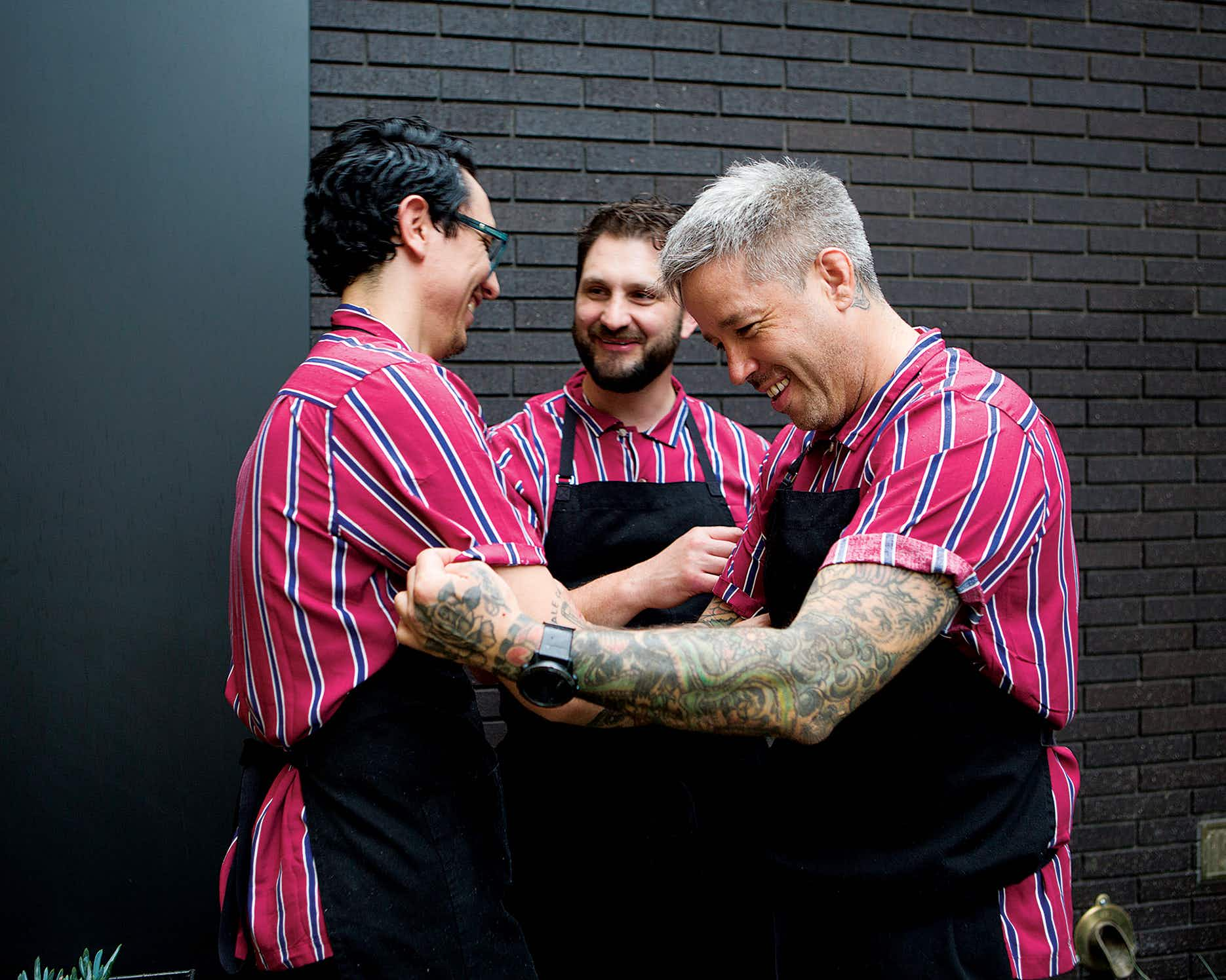 Chefs Alan Delgado, Gabe Erales, and Philip Speer at Comedor.