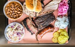 Derek Allans Texas BBQ bbq tray