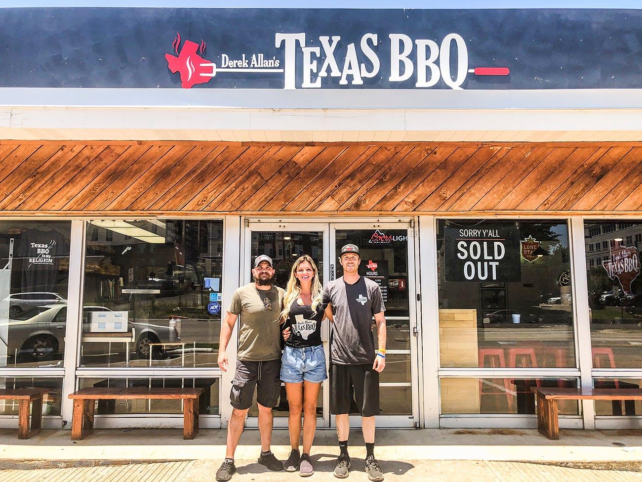 Derek Allan's Texas BBQ restaurant exterior