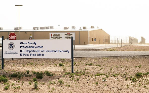 The Otero County Processing Center in Chaparral, New Mexico, on April 10, 2019.