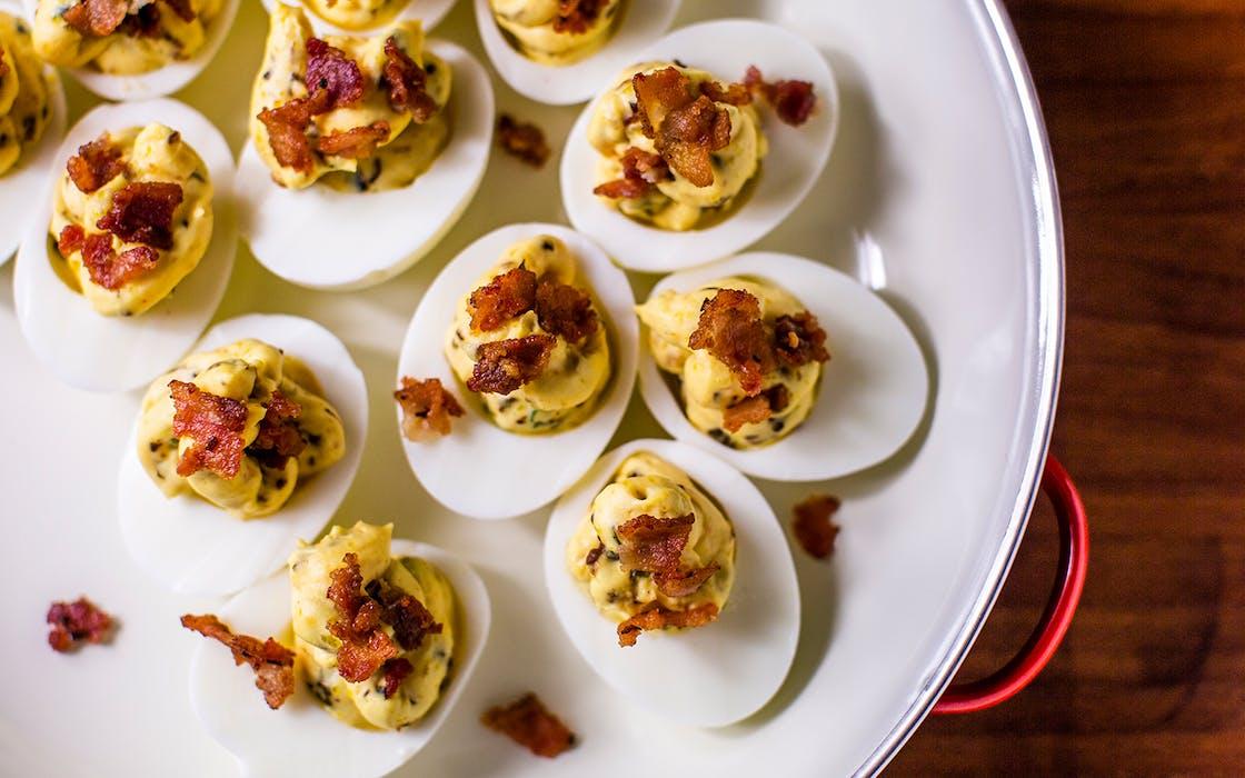 Instant Pot Jalapeño Popper Deviled Eggs