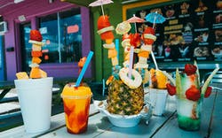 An assortment of raspas at Hay Elotes in Austin.