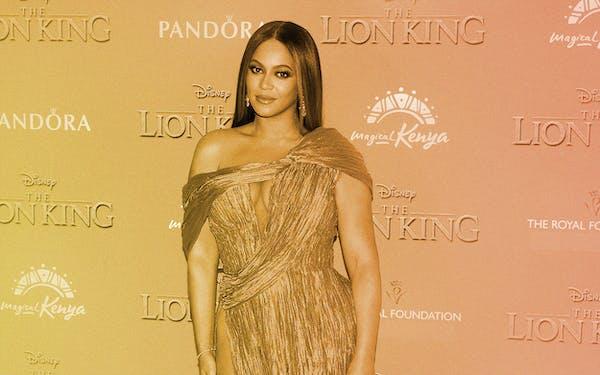 Beyonce at Lion King premiere