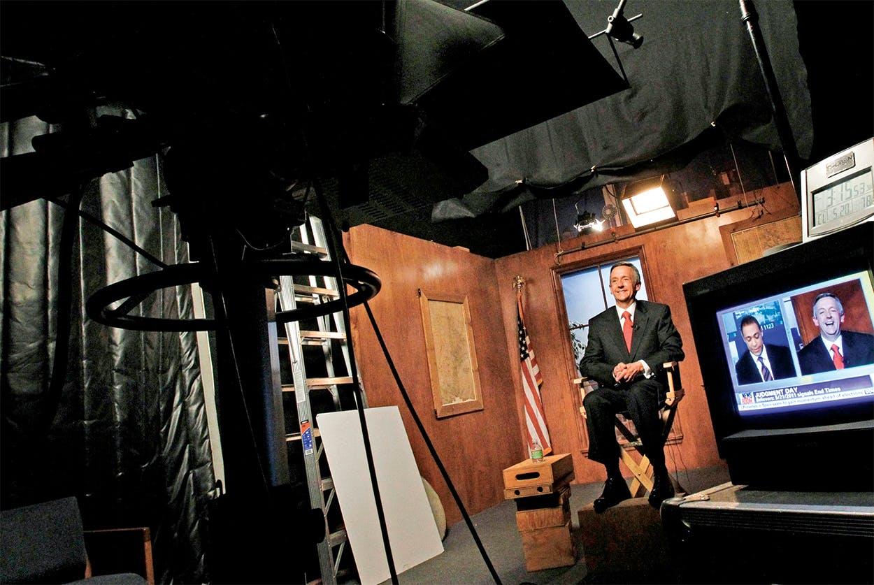 Robert Jeffress being interviewed for a TV segment