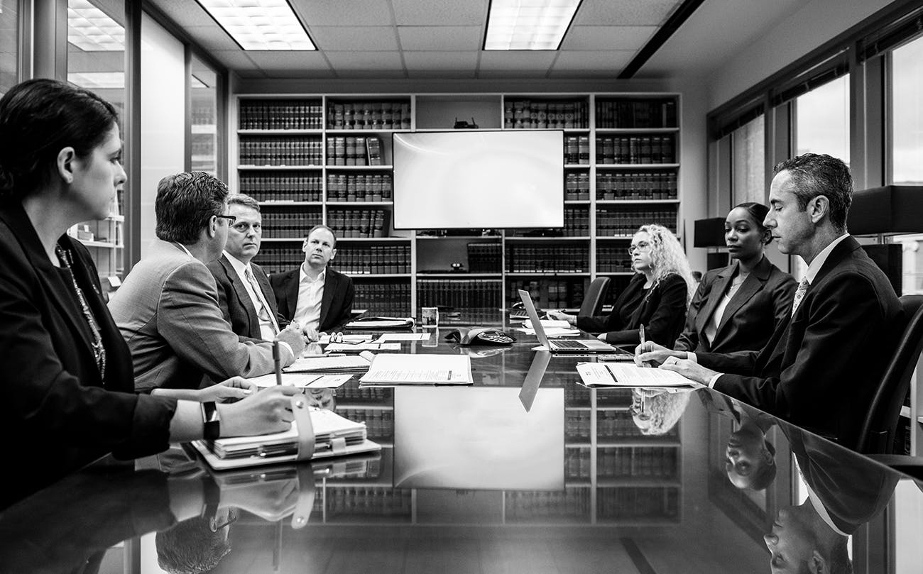 A policy meeting at the TIDC office in Austin on July 3, 2019.