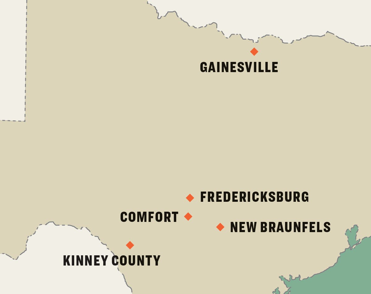 Texas History Map