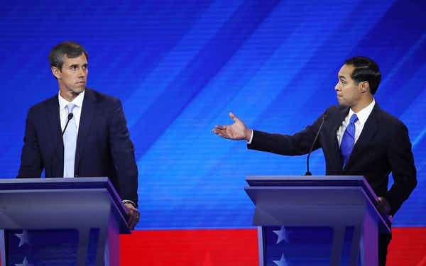 Thursday Night Lights: Beto O'Rourke and Julian Castro Fight for Relevancy at the Houston Debate