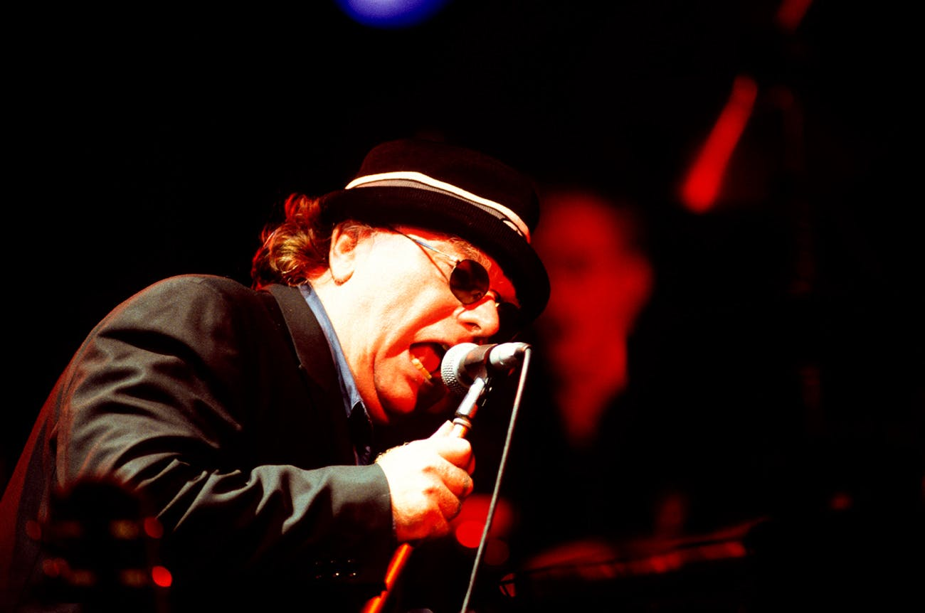 Van Morrison plays the Brecon Jazz Festival in Brecon, Wales on January 1, 1998.