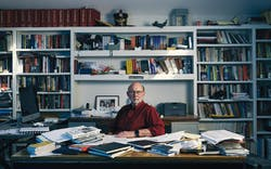 Stephen Harrigan in his home office