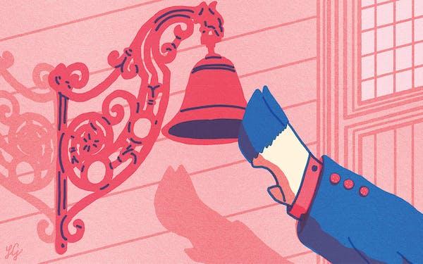 cow ringing doorbell