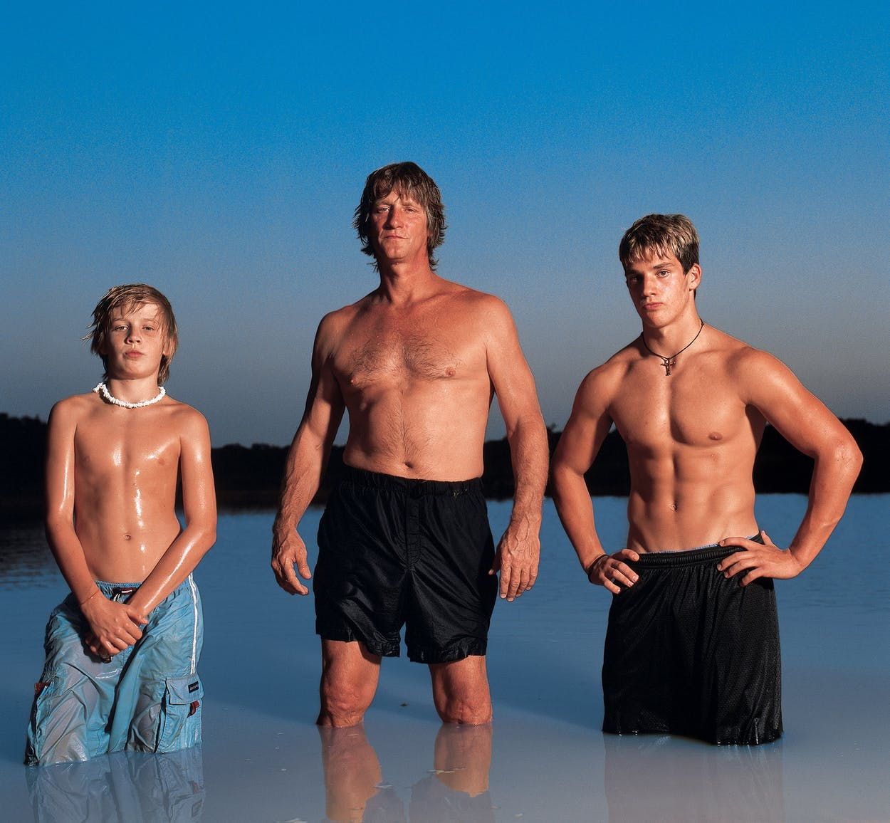 Kevin Enrich with sons.