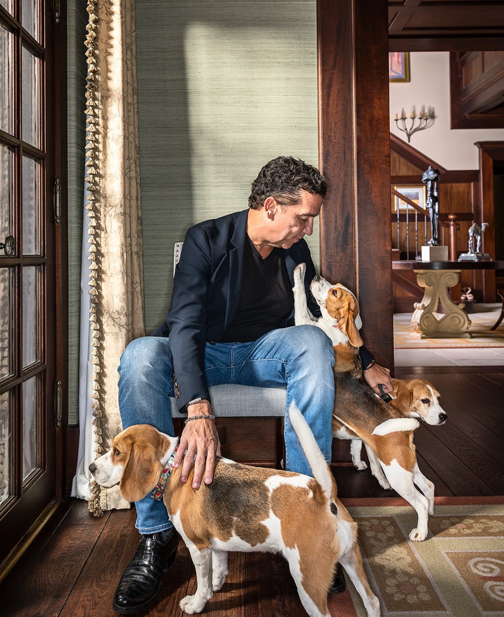 Buzbee at home with his dogs