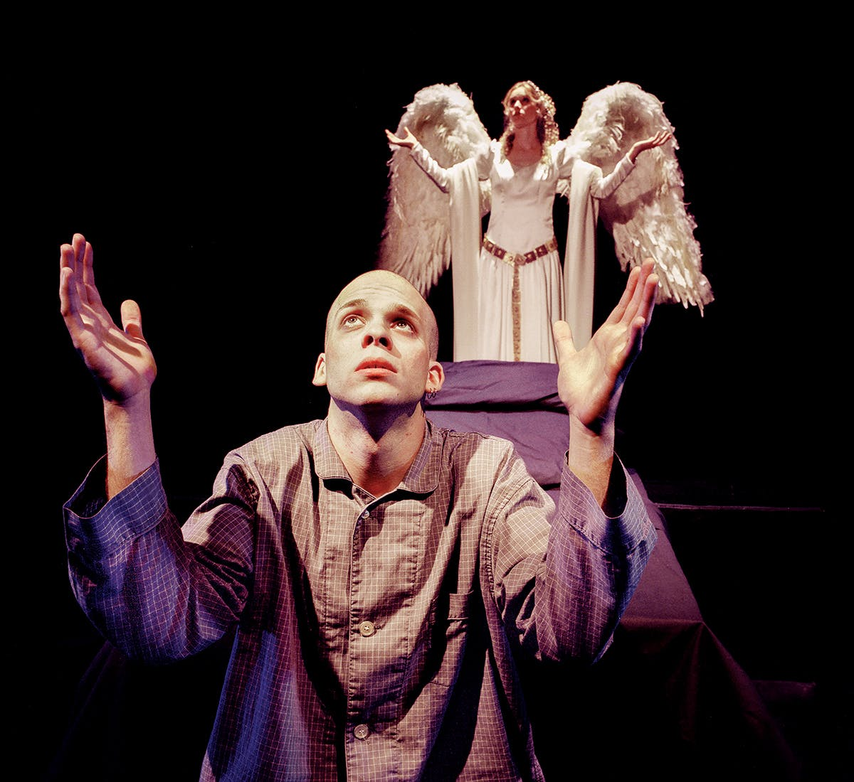 Ferris Craddock (foreground) as Prior Walter and Rainie Davis as the Angel on October 15, 1999.