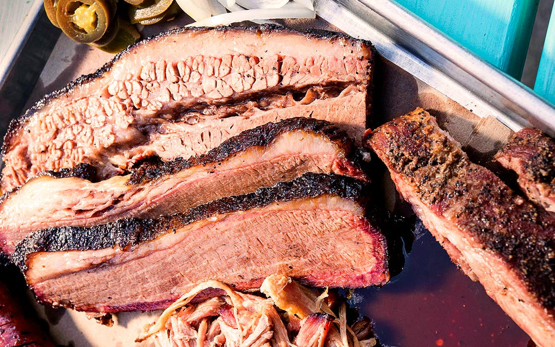 Brisket and pork ribs from Heim Barbecue