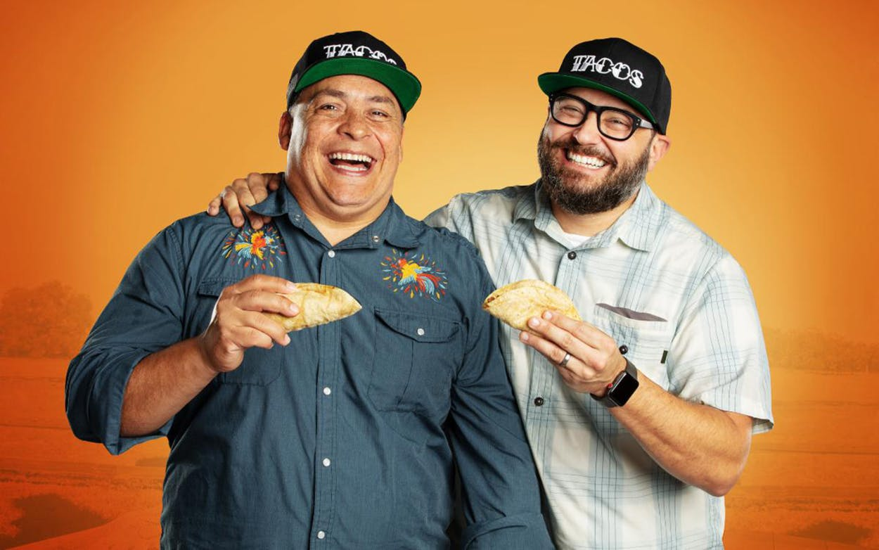 United Tacos of America, hosted by Austinites Mando Rayo and Jarod Neece, premieres October 15 on the El Rey Network.
