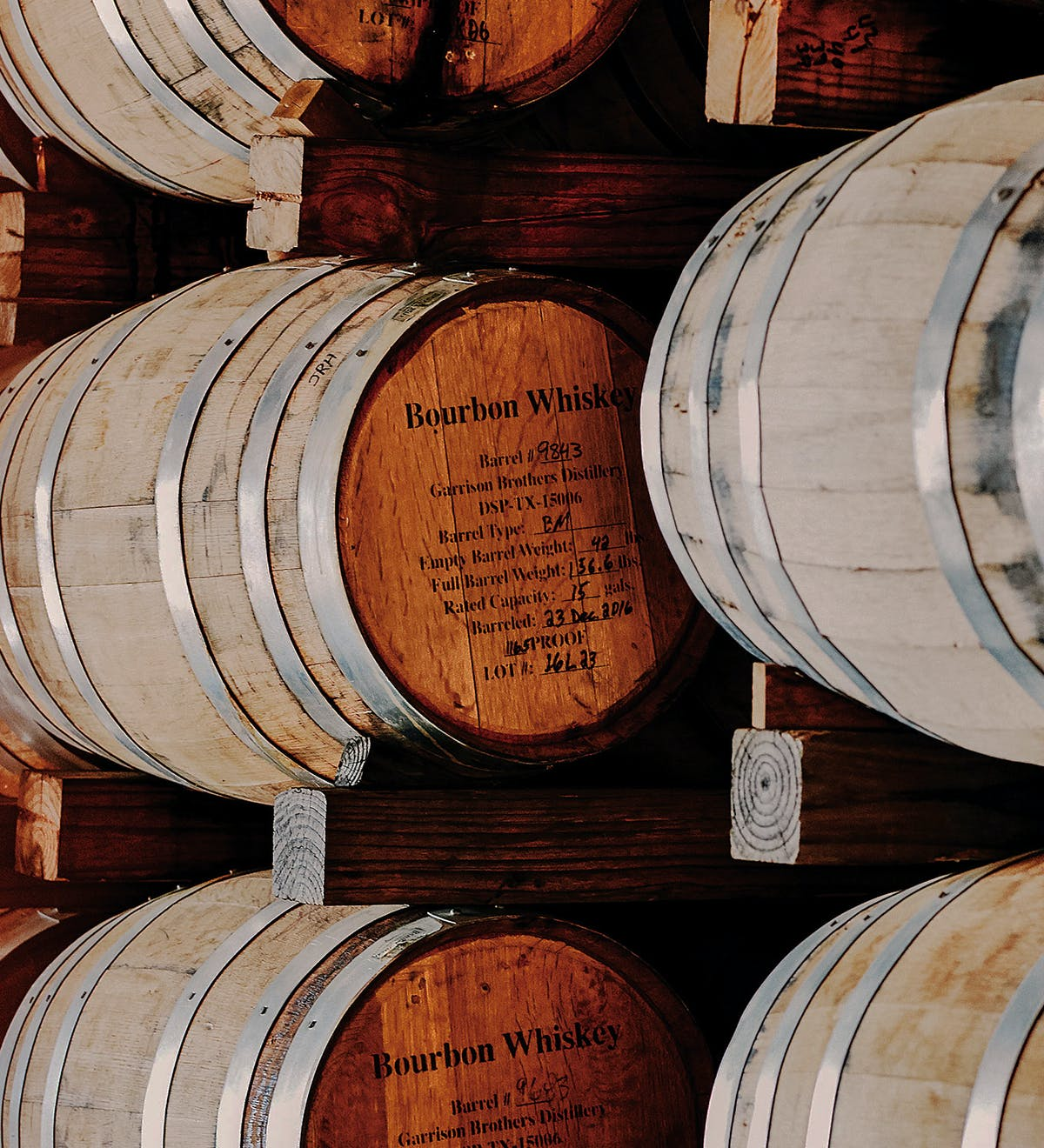 Barrels at Garrison Brothers