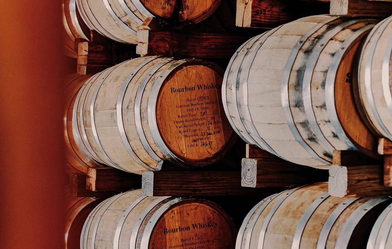 Barrels at Garrison Brothers