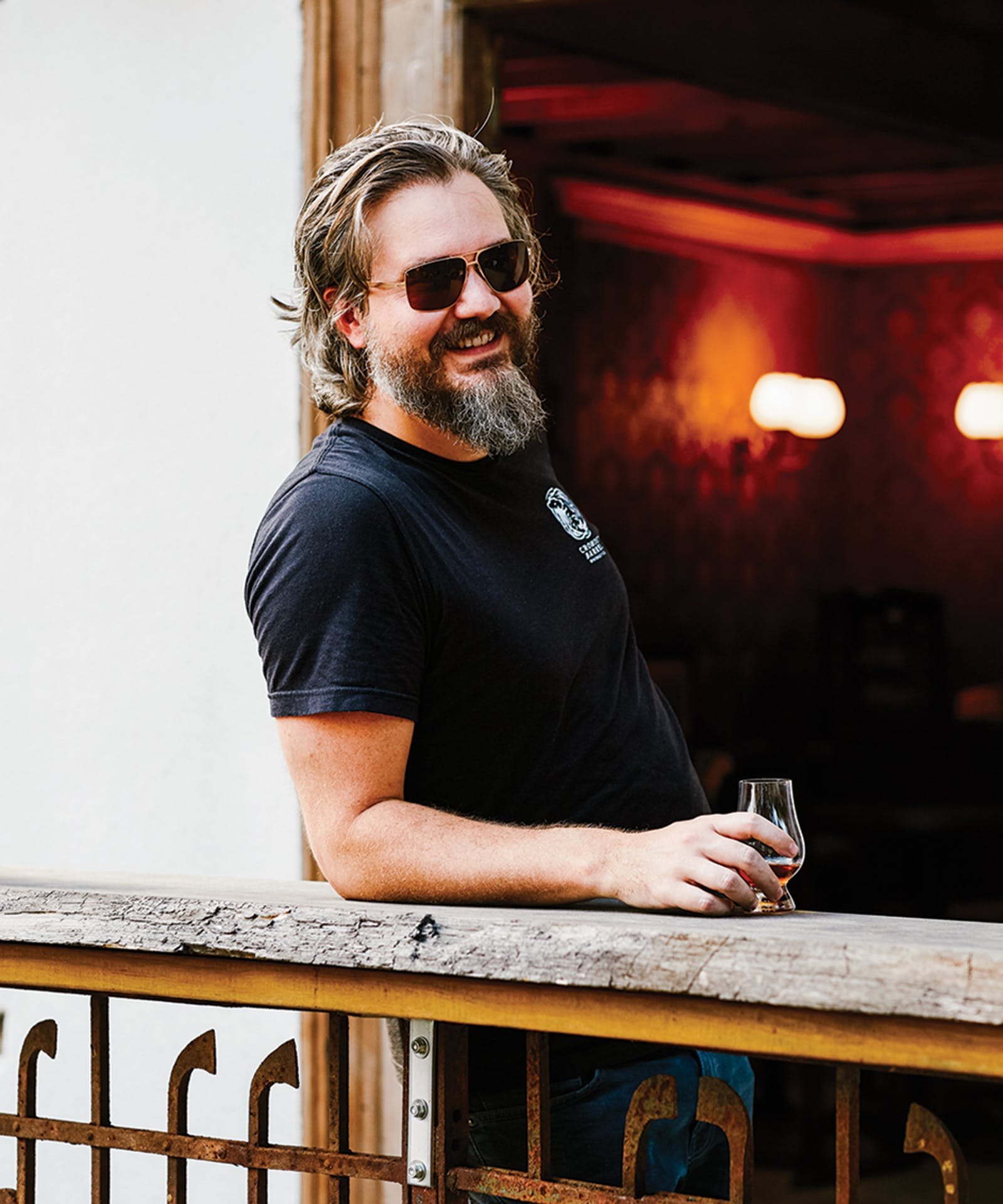 texas whiskey Cofounder Rex Williams at Crowded Barrel