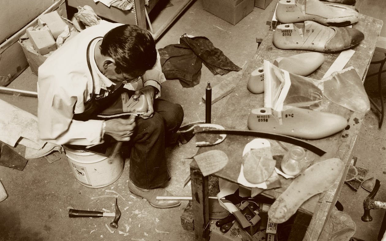 Bootmaker at work