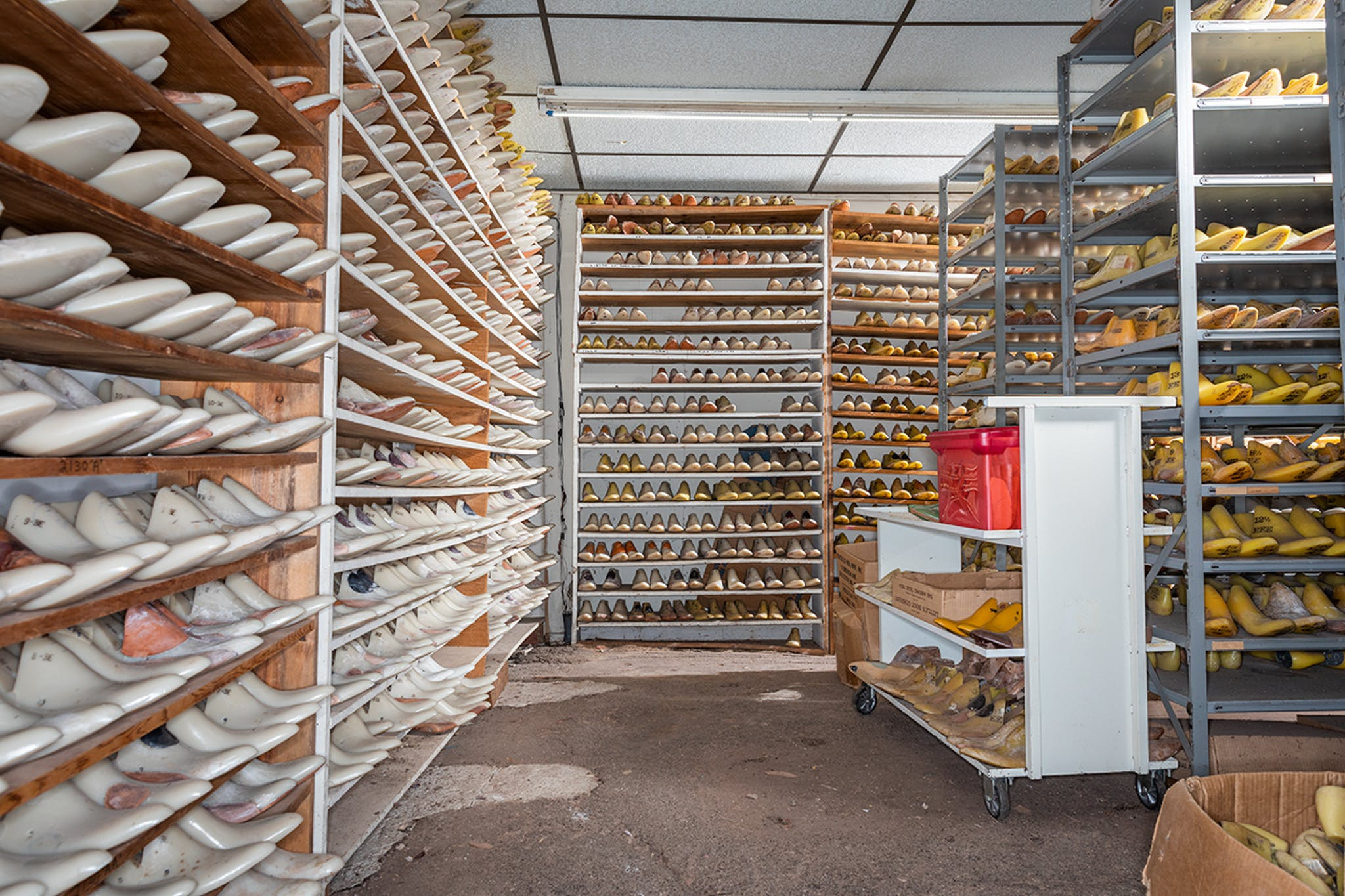 The last room, where the customized forms belonging to hundreds of individual Little's customers are stored for future use.