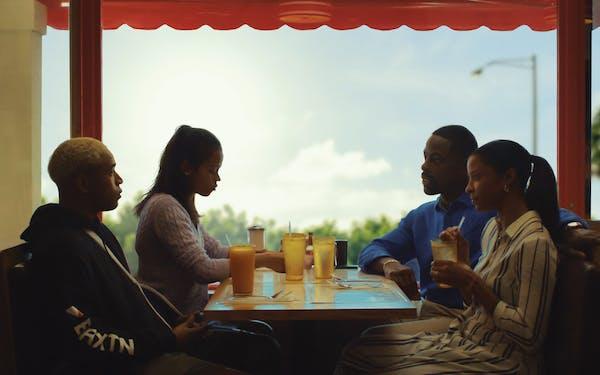 Kelvin Harrison Jr., Taylor Russell, Sterling K. Brown and Renée Elise Goldsberry in Trey Edward Shults' Waves.