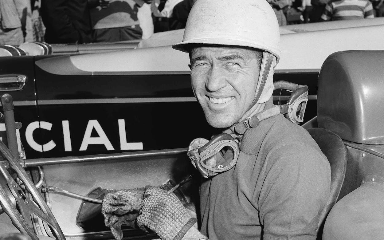 U. S. Driver, Carroll Shelby at the Havana Grand Prix time trial in Havana, Cuba on February 22, 1958.