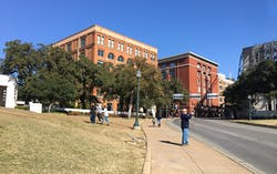 Dealey Plaza and the Sixth Floor museum in Dallas