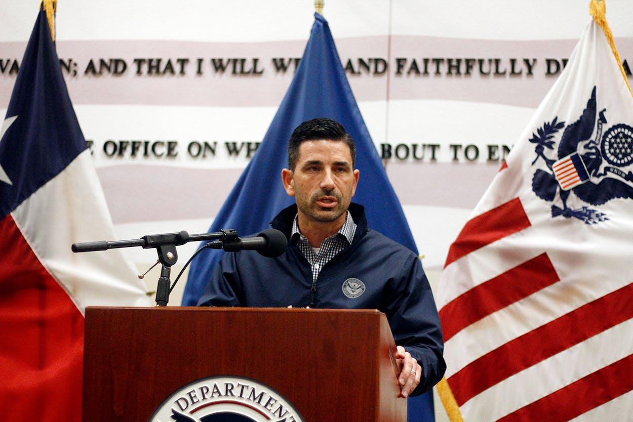 DHS acting secretary Chad Wolf visits border wall