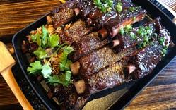 The pork rib trio from International Smoke.