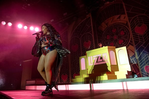 Lizzo onstage