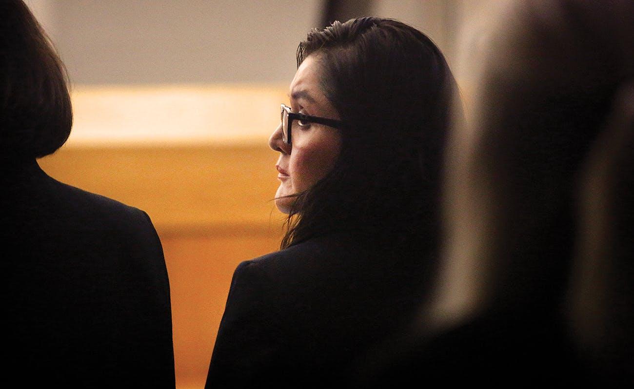 Brenda Delgado in a courtroom