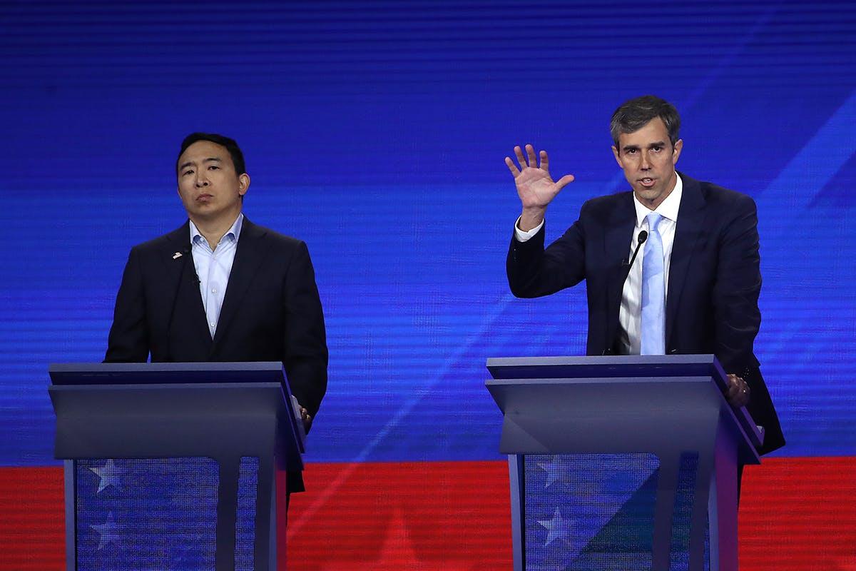 Beto O'Rourke speaks during the Democratic Debate