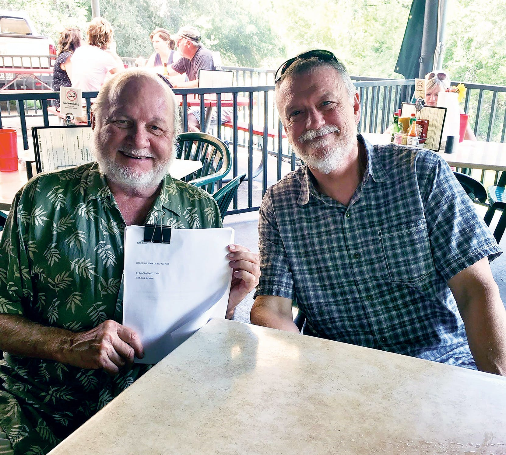 Bob and the author, W.K. Stratton, at Shoal Creek Saloon in Austin.